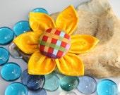 Fabric Collar Flower