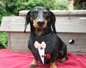 Pinstripe Wedding Dog Bandana Suit Sz XS S M