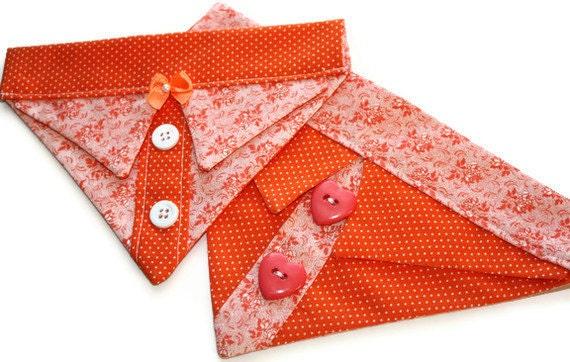 Orange Dog Bandana Sz S or M