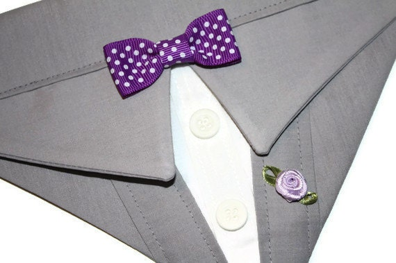 Wedding Party Bandana Grey Suit Sz XS S M