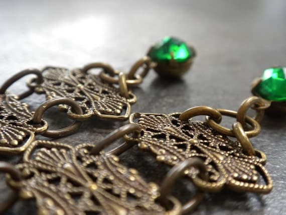 Egyptian Revival Jewelry Earrings with Niobium Wires