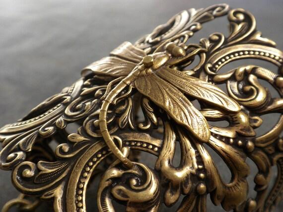 Dragonfly Jewelry Bracelet Bridal Bouquet Cuff