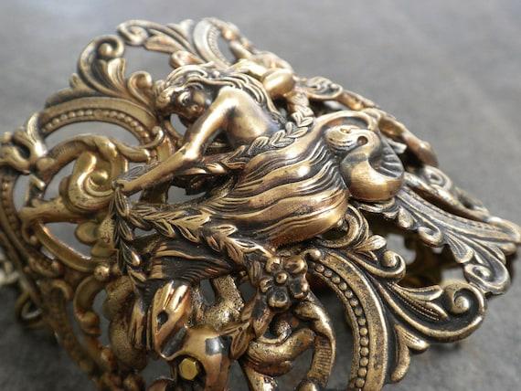 Mermaid Bracelet Brass Cuff