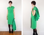 Vintage 1960s Matching Green Dress and Jacket  - S M