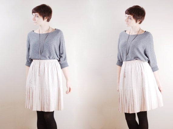 Vintage Pleated Skirt - S/M