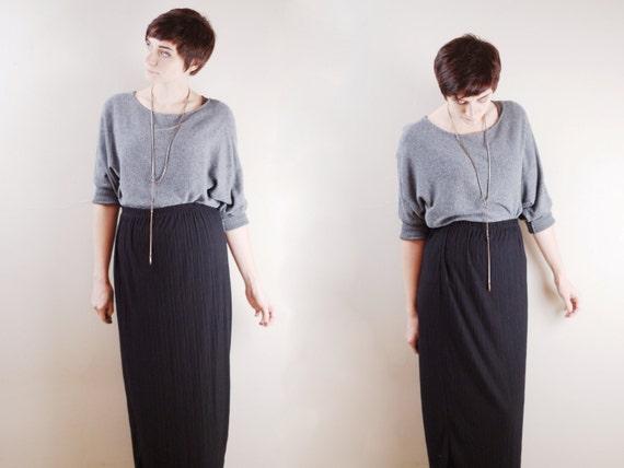 Vintage Black Maxi Skirt - M/L