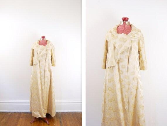 S A L E Vintage 1950s Gold Dress Coat / Formal Jacket  - M/L