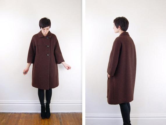 1960s Brown Winter Coat - S/M
