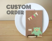 custom order for seasuttle - 2 personalized journals - monkey