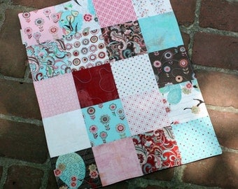 blush baby quilt // baby toddler mini blanket or doll quilt // READY TO SHIP