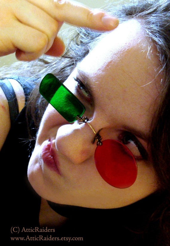 Transmetropolitan Glasses RESERVED for Mitchell Ullrich -Made to Order - Spider Jerusalem -Limited Edition -Pince Nez