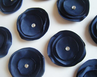 Wedding Blue Table Decoration x 10 Navy Blue Satin.