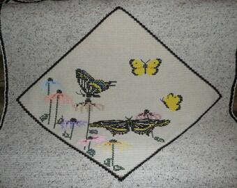 Garden Butterflies Butterflys Crochet Afghan Throw Blanket - Gorgeous Butterflies-