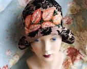 hat cloche  flapper 1920 vintage style handmade