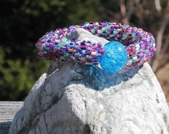 Yikes  bead crochet bracelet