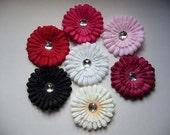 Wholesale Lot of 12 --- 4 Inch Rhinestone Silk Flowers
