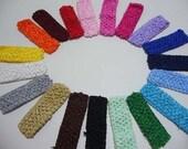 Wholesale Lot of 12 --- 1.5 inch Crochet Headbands