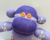 Reserved for Melanie - Stella the Purple Sock Monkey