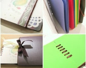 Colette - Berrybliss Rainbow - Ribbon binding notebook - FREE SHIPPING No.7\/20