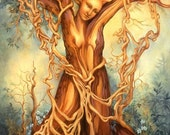 Goddess Tree of Life Fantasy Nature Art Print
