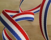 4 Yards of 3/8 inch wide - Tricolour Ribbon