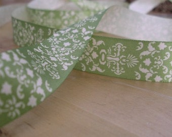 5 Yards - Your choice of color DAMASK Satin Ribbon