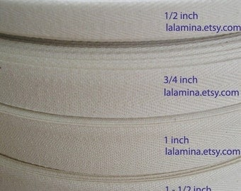 USA NATURAL COTTON Twill - Select a width and yard quantity