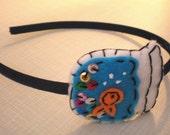 Goldfish Glory Eco Felt Fishbowl Headband Fascinator