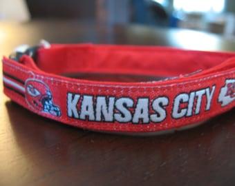Kansas City Chiefs Cat or Small Dog Collar