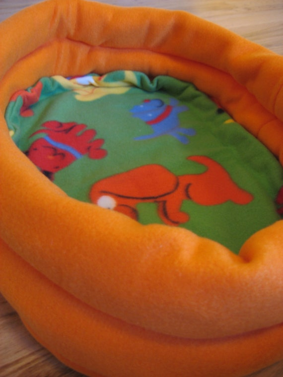 Flipping Dogs and Orange Deluxe Small Animal Bed