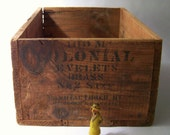 Antique Wooden Box Crate Industrial Rustic Farmhouse