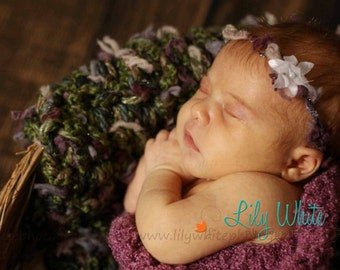 Newborn Textured Flower Headband - Great PhotoGraphy Prop