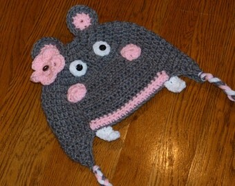 Harietta the Hippo Ear Flap Hat