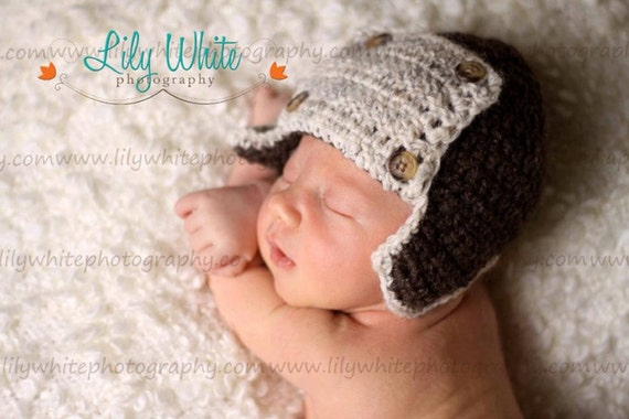 Wool Aviator Diaper Cover and Hat Set- GREAT PHOTOGRAPHY PROP
