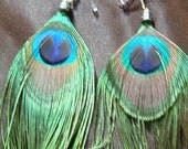 Peacock Feather Earrings Very Beautiful