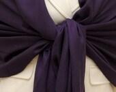 Soft eggplant scarf, pashmina shawl, wrap, fashion clothing, bridal, bridemaids gift