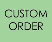 Custom order - 9 silver shawls with initial