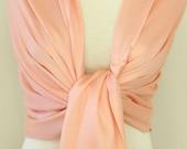 Custom order - 6 Peach colored pashmina shawl scarf, bridesmaid monogrammed gift