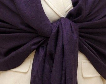 Soft eggplant scarf, pashmina shawl, wrap, fashion clothing, bridal, bridemaids gift