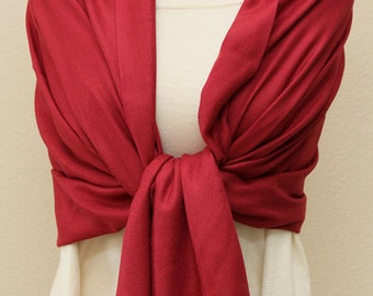 Chili red pashmina bridesmaid shawl, wedding gifts, bridesmaid gifts, bridal scarf, bridal party gifts