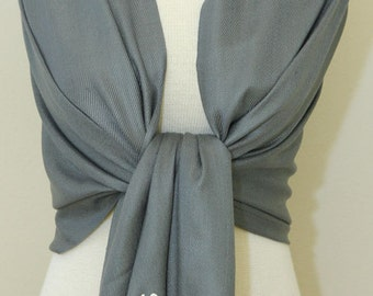 Dark charcoal gray bridal shawl, bridesmaid wrap, scarf, bridesmaid gifts, mother of the bride gifts