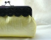 Bridal Clutch - Bridesmaids Clutch - Bridesmaids Gifts - Wedding Gifts - Light Yellow Bridal Clutch - Madison Clutch
