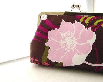 Wedding Clutch - Bridal Clutch - Bridesmaids Clutch - Wedding Purse - Bridesmaids Gifts - Bridal Gifts - Purple Floral Clutch -Violet Clutch