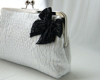 Bridal Clutch - Wedding Clutch - Bridesmaids Clutch - Wedding Gifts - White Bridal Clutch Purse - Natalie Clutch