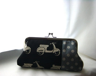 Black Clutch - Black and Gray Purse - Bridesmaids Purse - Bridesmaids Gift
