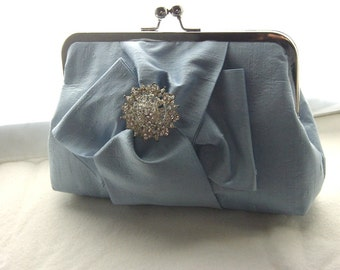 Bridal Clutch - Wedding Clutch - Bridesmaid Clutch - Wedding Purse - Bridal Purse -Bridal Gift -Bridesmaid Gift - Blue Clutch - Chloe Clutch