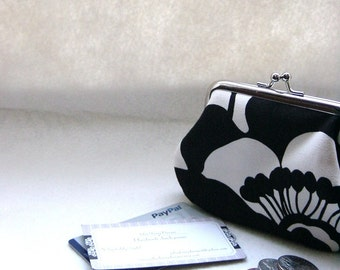 Coin Purse - Change Purse - Black and White Coin Purse - Black an White Change Purse  - Delia