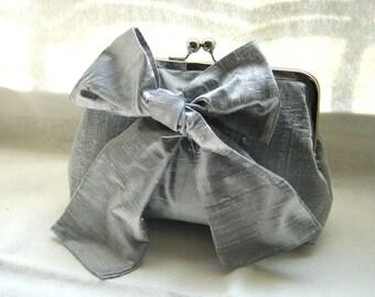 Bridal Clutch - Wedding Clutch - Bridesmaids Clutch - Bridesmaids Gifts - Wedding Gifts - Gray Bridal Clutch Purse - Marisa Clutch