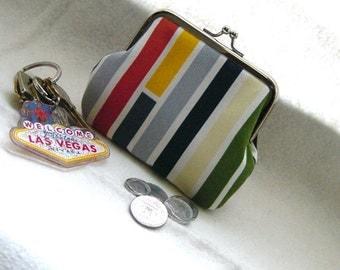 Coin Purse - Change Purse - Rainbow Stripe Coin Purse