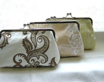 Custom Bridesmaids Clutches - SET of 3 Bridal Clutches - Lisa, Liz, Zoe